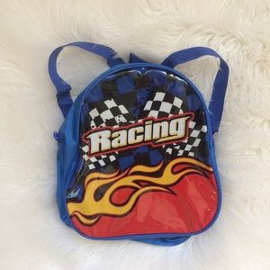 Y2k 00s kids boys mini backpack racing racecar